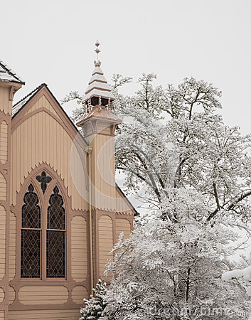 Free Historic Church With Snow Royalty Free Stock Photo - 97428875