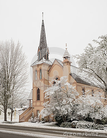 Free Historic Church With Snow Royalty Free Stock Photo - 97428885