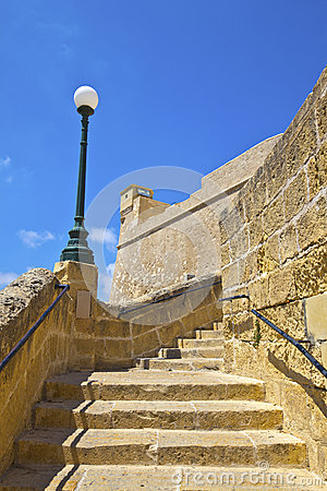 Historic citadel architecture on the island of Gozo.