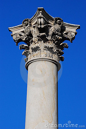 Free Historic Column And Capital Royalty Free Stock Photos - 8162348