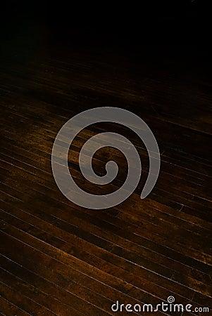 Historic dark brown hardwood floor