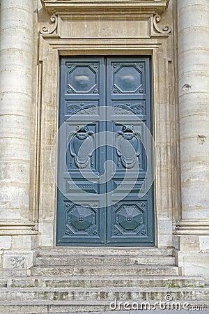 Historic door with steps