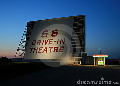Historic drive-in theater Editorial Photography