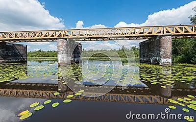 Historic Dutch Bridge reflected