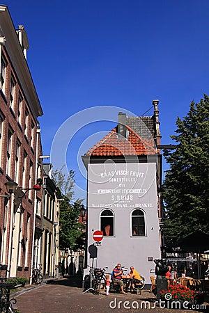 Historic dutch building city deventer
