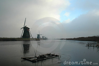 Historic dutch windmills