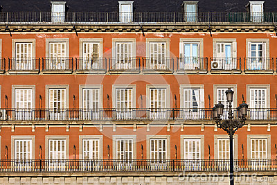 Historic Facade at Plaza Mayor in Madrid