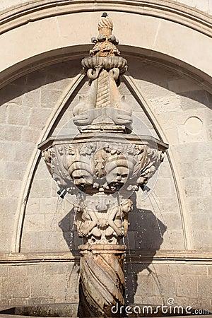 Historic fountain in Dubrovnik