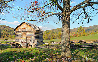 Historic frontier cabin