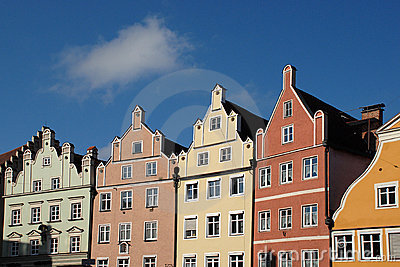 Historic German row houses