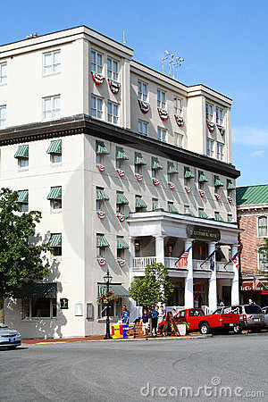 Historic Gettysburg Hotel Editorial Stock Photo