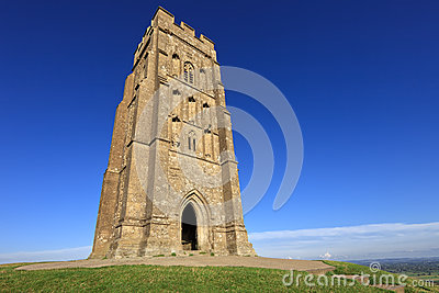 The historic Glastonbury Tor in Somerset, England, United Kingdom