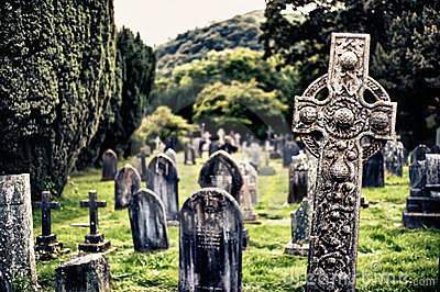 Historic graveyard in the lake district
