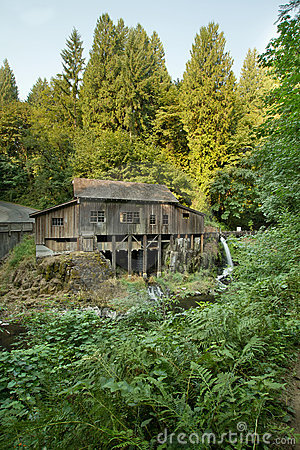 Historic Grist Mill along Cedar Creek Forest