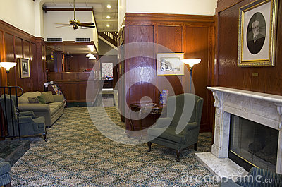 Historic hotel lobby Editorial Photography