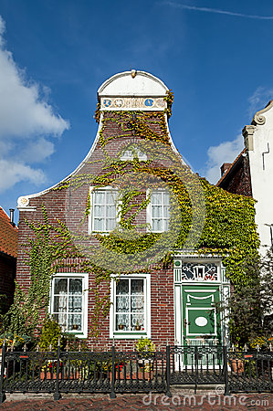 Historic house in Greetsiel, Germany Editorial Photography