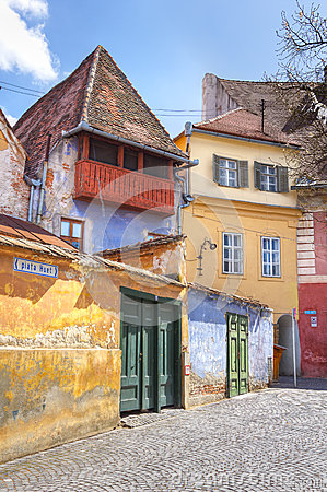 Historic houses of Sibiu, Transylvania, Romania
