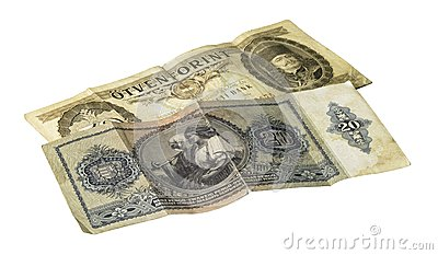 Historic hungarian banknotes