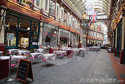 Historic Leadenhall Market Editorial Stock Photo