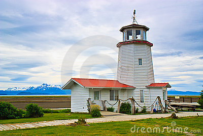 Historic Lighthouse, Homer Split, Alaska