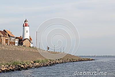 Historic lighthouse of Urk, the Netherlands