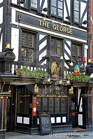 Historic London Pub Editorial Stock Photo