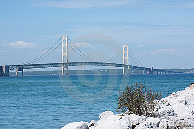 Historic Mackinac Bridge in Michigan