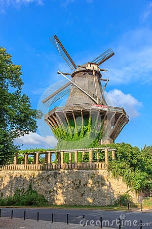 The historic mill - view from the botanical garden