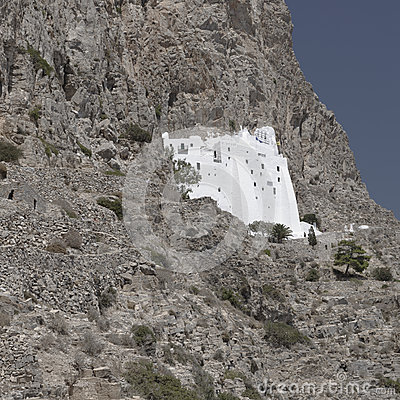 Historic monastery on cliffs