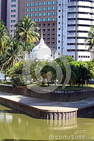 Historic Mosque Masjid Jamek At Kuala Lumpur Malaysia