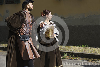 Historic parade in Parma Editorial Stock Image