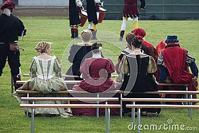 Historic parade in Parma Editorial Photo