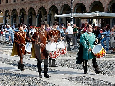 Historic parade in Vigevano Editorial Photo