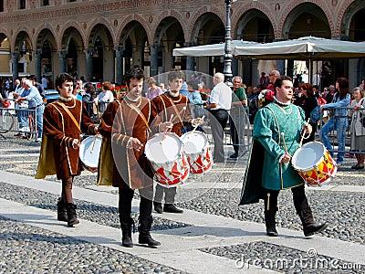 Historic parade in Vigevano Editorial Photo