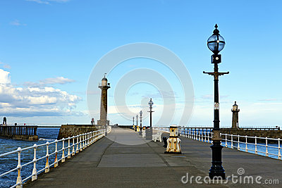 Historic pier at Whitby.