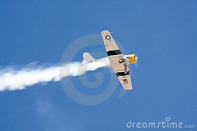 Historic plane in air show - North American AT6 Editorial Image