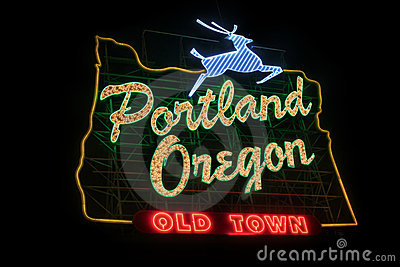 Historic Portland Oregon Old Town Sign