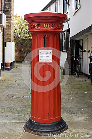 Historic Post Box Editorial Stock Image