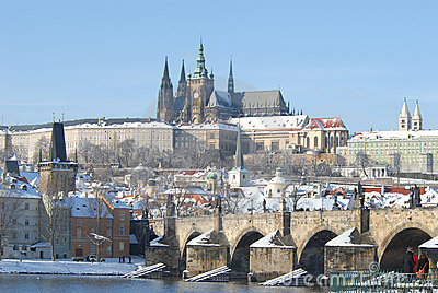 Historic Prague in winter