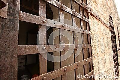 Historic prison cell door