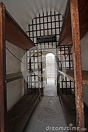 Historic prison cellblock