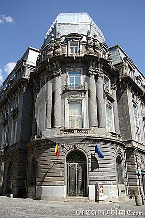 Historic PTTK Hospital in Bucharest (Romania) Editorial Image