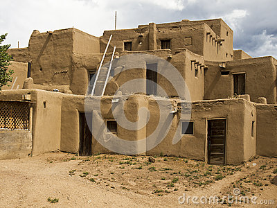 Historic Pueblo Building Editorial Image