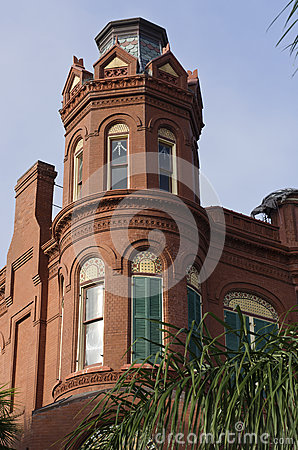 Free Historic Queen Anne Victorian House In Gaveston, Texas Stock Photos - 29035943