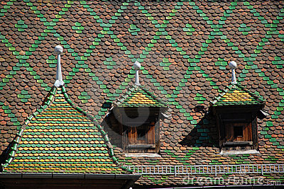 Historic roof in Colmar