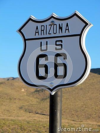 Historic Route 66 Arizona Sign