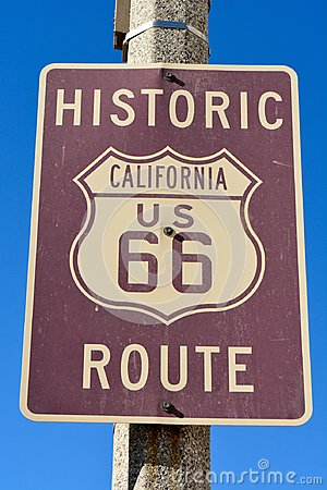 Free Historic Route 66 Sign Stock Photos - 106535783
