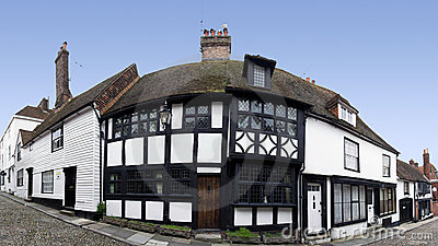 Historic rye old houses sussex england