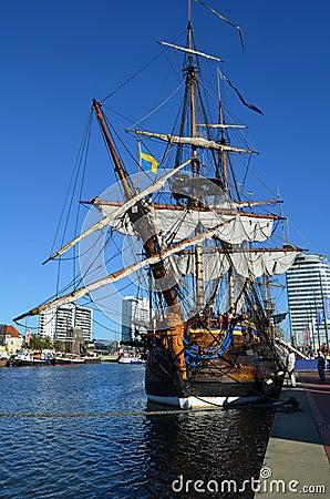 Free Historic Sail Ship Gotheborg Royalty Free Stock Photo - 29403165