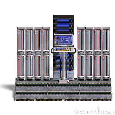 A historic science fiction computer or mainframe